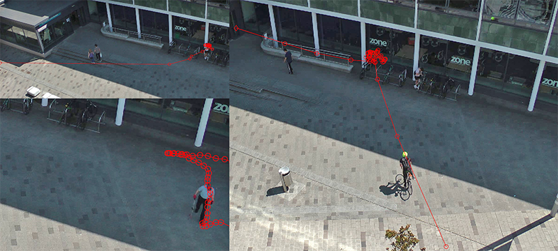 Unsupervised Abnormal Behaviour Detection with Overhead Crowd Video